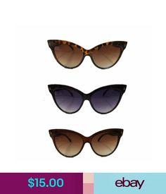 beb0bfc2c8a70 Men s Sunglasses Cat Eye Sunglasses Retro 1950S Vintage Rockabilly Black  Brown Tortoise Shell  ebay  Fashion