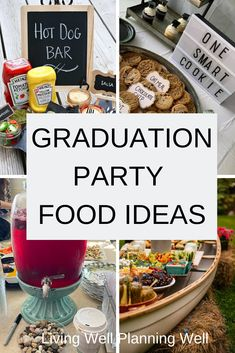 Check out these graduation party food ideas to feed a crowd that won't break your budget. These 32 graduation party foods are sure to wow your guests. Graduation Party Desserts, Outdoor Graduation Parties, Graduation Party Planning, Party Food On A Budget, Party Food Buffet, Theme Ideas, Party Ideas, Holiday Party Appetizers, Feeding A Crowd