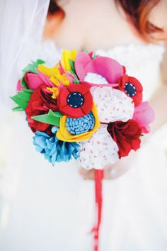 Michaels.com Wedding Department: Whimsy Carnival Wedding Bouquet Create a gorgeous wedding bouquet to match your unique style in just four simple steps!