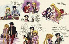 Tags: Bishoujo Senshi Sailor Moon, Tsukino Usagi, Kou Seiya, Kou Yaten, Youkai Yume