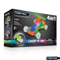 Laser Pegs 4-in-1 Cars Building Set  For Kids