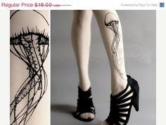 ON SALE: 10 % OFF Jellyfish Tattoo gorgeous by tattoosocks on Etsy