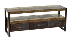 Upstairs Downstairs Furniture - Avila Plasma Stand with Drawers, Width: 58.00 Height: 24.00 Depth: 16.00