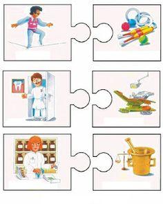ملف ضخم عن أصحاب المهن - موارد المعلم Preschool Puzzles, Preschool Education, Puzzles For Kids, Preschool Crafts, Activities For Kids, Crafts For Kids, Bilingual Kindergarten, Kindergarten Math Worksheets, Community Helpers Preschool