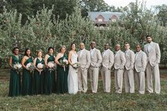Emerald green bridesmaids dresses, tan tux, September Wedding, Mapleside Farms, Cleveland, OH Emerald Green Bridesmaid Dresses, Emerald Green Weddings, Summer Bridesmaid Dresses, Green Bridesmaids, Bride Dresses, Prom Dresses, Tan Tux Wedding, Wedding Suits, Wedding Attire
