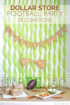 DOLLAR STORE FOOTBALL PARTY DECORATIONS - Mad in Crafts