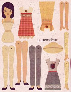Paper Dolls | ... paper dolls, I'd choose the latter. Papemelroti paper doll, P15 each