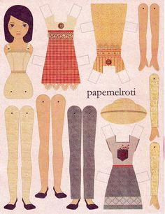 Paper Dolls   ... paper dolls, I'd choose the latter. Papemelroti paper doll, P15 each