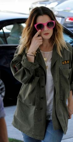 colored shade // army jacket