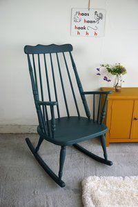 Prachtige vintage schommelstoel van Liefs van Liesje Rocking Chair, Sweet Home, Furniture, Vintage, Design, Home Decor, Chair Swing, Decoration Home, House Beautiful