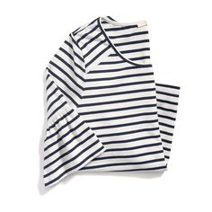 Love this classic stripe with ruffle sleeve detail