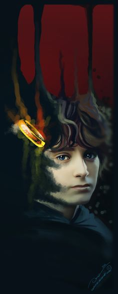 Frodo and the Ring. This is lovely. :)