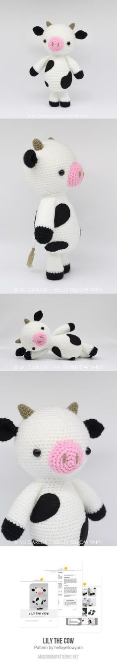 Lily The Cow Amigurumi Pattern