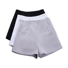 2017 New Summer hot Fashion New Women Shorts Skirts High Waist Casual Suit Shorts Black White Women Short Pants Ladies Shorts #Affiliate