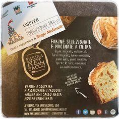 Farina nel sacco a #ilgustodelnatale @borgomedievale  vi manca il nostro pane oggi? qui abbiamo #multicereali #granoduro e #segaleintegrale  vi aspettiamo!  (l'ingresso è libero )