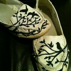 Sharpie decorated shoes