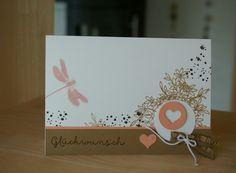 Glückwunschkarte Libelle