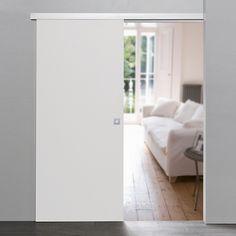 PUR Holz Schiebetür - Dekor weiß 755x2035mm