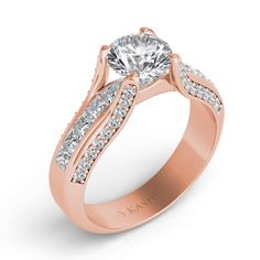 26039 Classic Engagement Rings, Rose Gold Engagement Ring, Amazing Things, Or Rose, Diamond, Metal, Silver, Jewelry, Rose Gold Square Engagement Ring