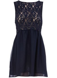Dorothy Perkins  Navy lace top dress