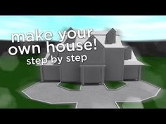 How to Build a House in Bloxburg Two Story House Design, Tiny House Layout, Unique House Design, House Layouts, Home Building Design, Building A House, Building Ideas, Build A House Game, Cheap Houses To Build