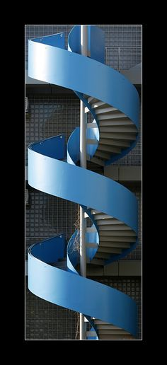 Blue spiral stairs by ~2510620 on deviantART Treppen Stairs Escaleras repinned by www.smg-treppen.de #smgtreppen