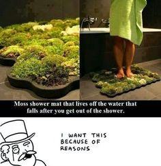 Moss shower mat - Shut up and take my money!