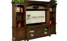 jameson entertainment center with piers wall units raleigh furniture home comfort furniture - Home Comfort Furniture Raleigh