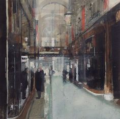 ARTFINDER: The Royal Arcade, off Old Bond St, Lo... by Julian Sutherland-Beatson - Part of my new 'At Home and Abroad' daily painting project comprising acrylic paintings of the countryside, coastline and urban areas of the UK and abroad. F...