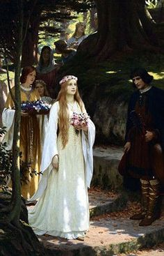 If you are considering having a medieval themed wedding with a twist of Camelot, just remember Arthur's legend is the medieval times' version of a fantasy novel. Description from medieval-bride.blogspot.no. I searched for this on bing.com/images