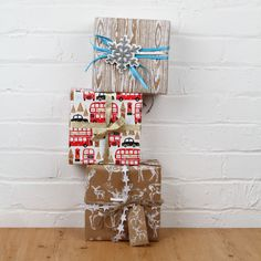 Keep it simple with Skandi style wrapping paper - with a London bus thrown in - why not? Great Christmas Presents, Christmas Gift Wrapping, Christmas Gifts, London Bus, Paperchase, Paper Folding, Getting Organized, Stationery, Wraps