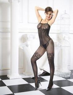 Sexy Seamless Lace Design Bodystocking @ sexymeboutique.com