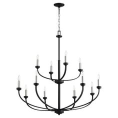 Quorum International Reyes Noir 12 Light Chandelier 6160 12 69 | Bellacor Classic Chandeliers, Candle Styling, Candelabra Light, Ceiling Lights, Chandelier Lighting, Chandelier Style, Candelabra Chandeliers, Candlelight, Chandelier