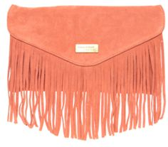 This Coral fringe clutch is all that and then some! ♥