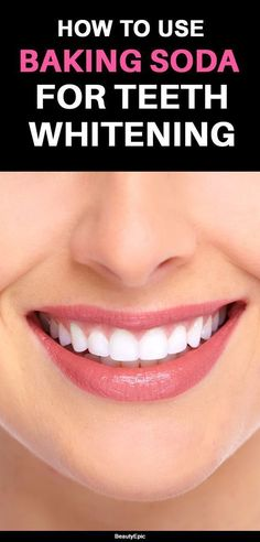 Top Oral Health Advice To Keep Your Teeth Healthy. The smile on your face is what people first notice about you, so caring for your teeth is very important. Unluckily, picking the best dental care tips migh Teeth Whitening Remedies, Natural Teeth Whitening, Whitening Kit, Skin Whitening, Baking Soda Teeth, Baking Soda Shampoo, Baking Soda Whitening Teeth, Cas, Mac Cosmetics