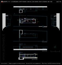 Villa Le Lac : Casa sul lago Lemano, Switzerland (1923-24) | Le Corbusier | Archweb AutoCAD