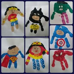 Super Hero Handprint Art