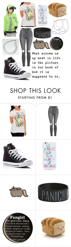 """invader zim"" by scream-0-em0 ❤ liked on Polyvore featuring Topshop, Converse, OTM and cutekawaii"