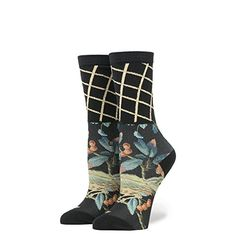 Stance Womens Tweets Mcgee Floral Lattice Arch Support Everyday Crew Sock Black OS -- Click image to review more details. (This is an affiliate link) #LadiesSocksandHosiery Textures And Tones, Streetwear Shop, Rubber Rain Boots, Wedges, Heels, Slip On, Socks, Street Wear, Cotton