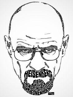 Using Song Lyrics, Artist Creates Typographic Portraits Of Popular Singers - DesignTAXI.com--breaking bad