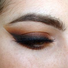 Brown smoky eye.