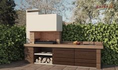 Garden Grills - Course on Home Organization and Interior Decorating - Decor Scan : The new way of thinking about your home and interior design Outdoor Bbq Kitchen, Outdoor Kitchen Design, Outdoor Cooking, Patio Design, Barbecue Design, Barbecue Area, Outdoor Barbeque Area, Casa Park, Barbacoa Jardin