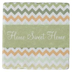 This design features a citrus tones (citrus colors) chevron stripes pattern. The TEXT can be customized with your own. Check out my store for more colors and more products with this design. Tabletop Accessories, Stone Coasters, Custom Coasters, Drink Coasters, Hostess Gifts, House Warming, Beverage, Chevron, Backdrops