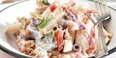 Σαλάτα με ζυμαρικά, γιαούρτι και τόνο Potato Salad, Potatoes, Ethnic Recipes, Food, Potato, Meals, Yemek, Eten