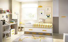 H605_Det01 Convertible de la cuna H605. Una habitación juvenil perfecta donde poder dormir acompañado. Nuestra propuesta de colores es ésta, pero siempre podrás elegir la que mejor se adapte a ti.  http://rimobel.es/index.php/es/rimobel/mundo-joven/infantil