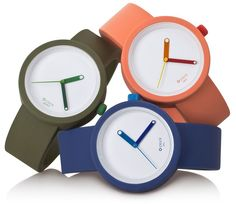 "Full Spot O Clock New Releases - by Rob Nudds - on aBlogtoWatch ""Italian brand Full Spot, offers customers a growing range of incredibly affordable watches in myriad colour combinations. If you like expression, you might find a place in your heart (and maybe even a place on your wrist or your pocket) for a Full Spot watch. This is not an article that deals with high-end horology. This is a review of a clever little brand that deals in a range of rubber-based accessories…"""