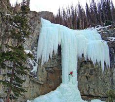 Magnificent Frozen Waterfalls: Hells Angel, Cody, Wyoming