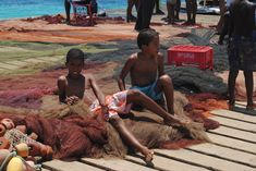 Cape Verde - Two Kids Getting Ready To Jump