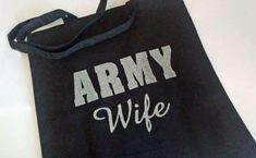 Army Wife Tote Bag  Glitter  Farmers Market Bag  by FrancisRoyal