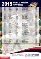 Keep up with the Rugby World Cup fixtures